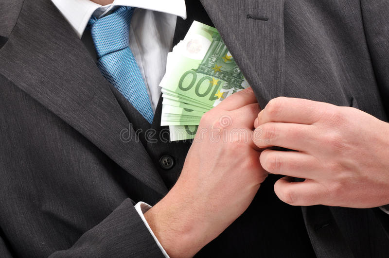 Paying in cash stock image