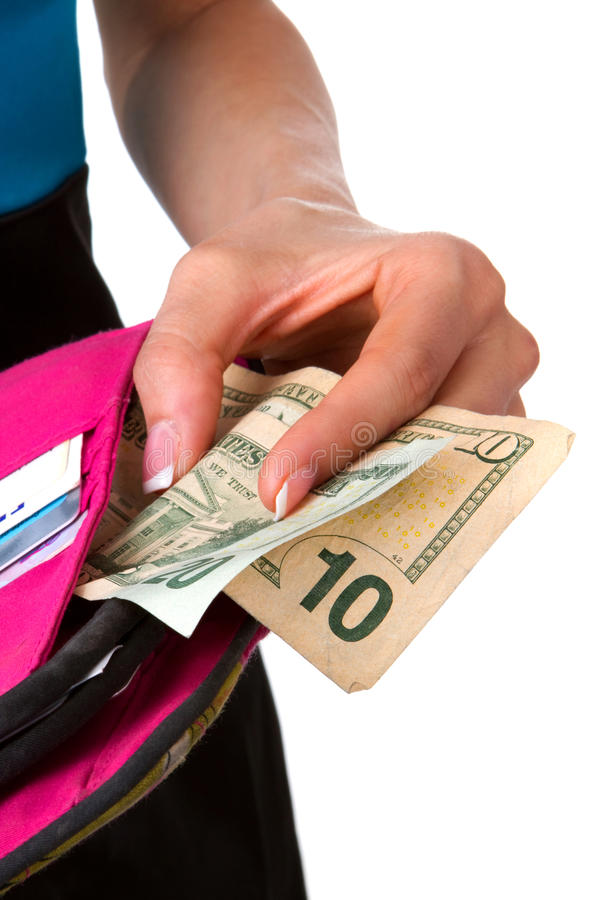 Paying With Cash royalty free stock photography