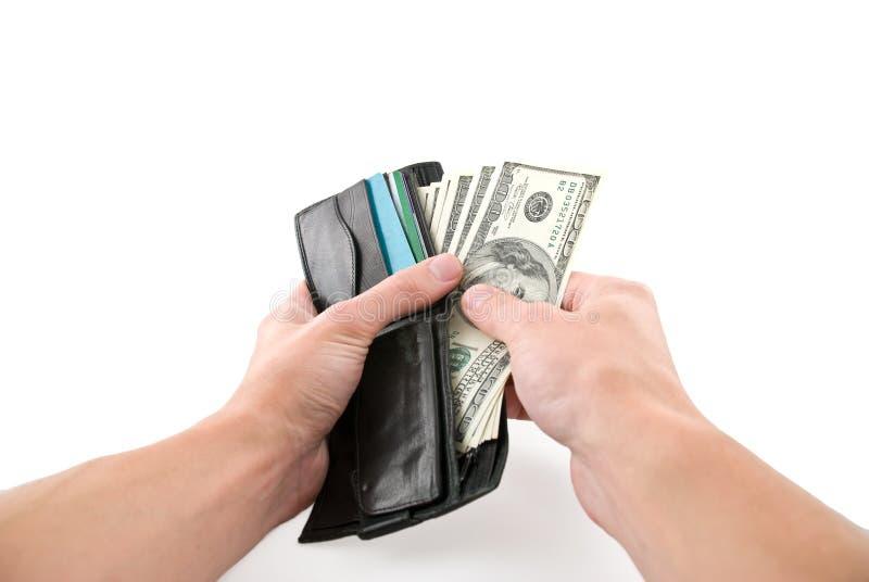 Paying cash stock image