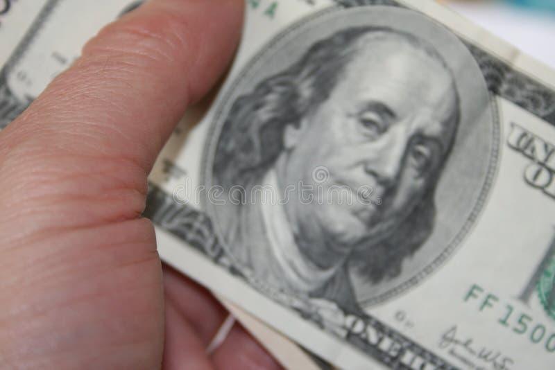 Paying cash royalty free stock image