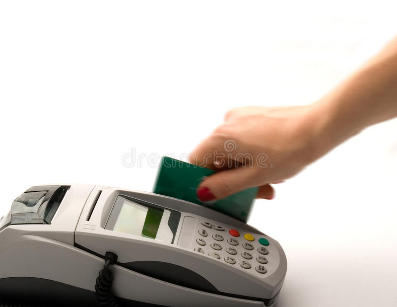 Paying with Credit Card. Shop stock photo