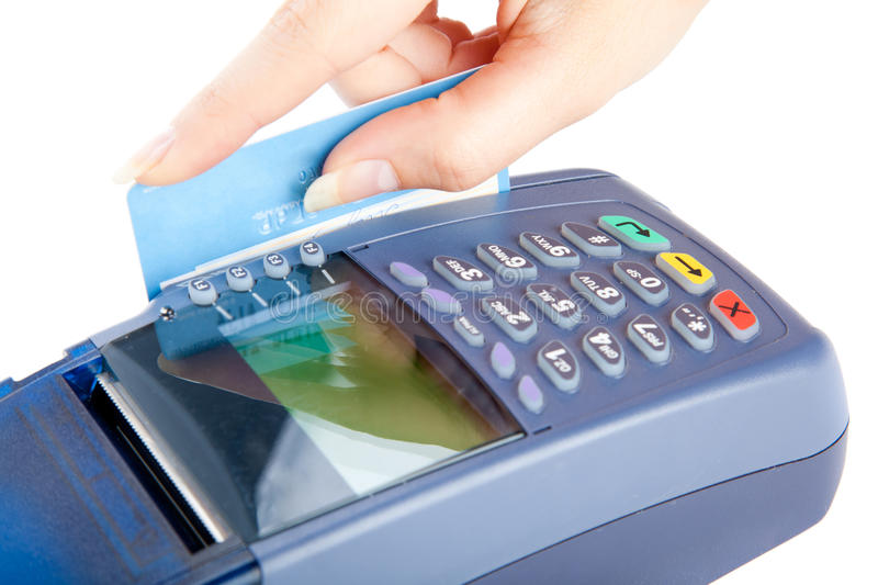 Paying with credit card stock photos