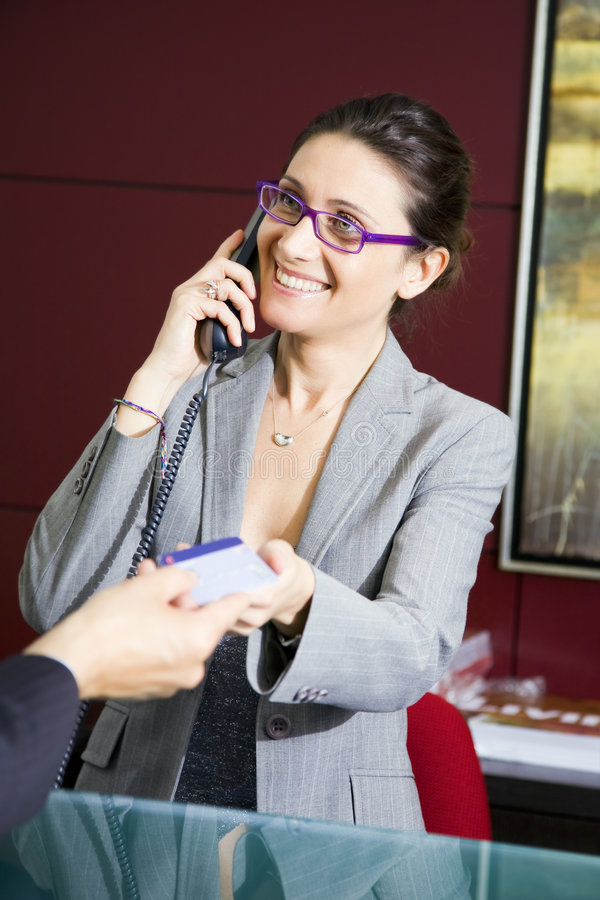 Download Paying by credit card stock photo. Image of businesspeople - 3007222