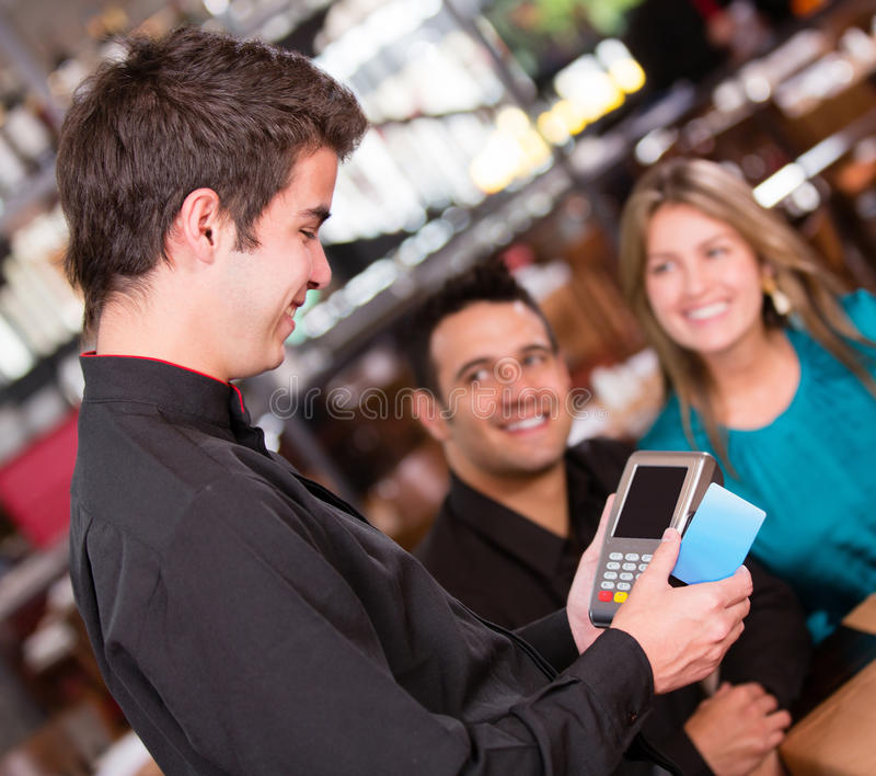 Download Paying By Credit Card At The Restaurant Stock Photo - Image of economy, latin: 28806000