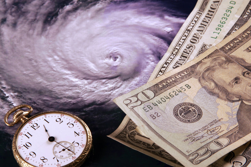 Paying for a Hurricane stock photography