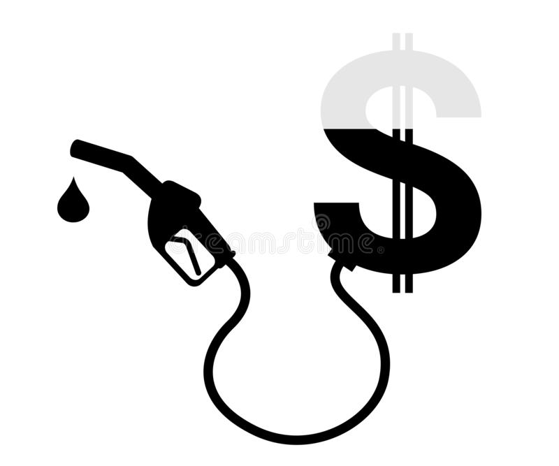 Paying price and expense for fueling and refueling fuel, oil, gas and petrol. stock images