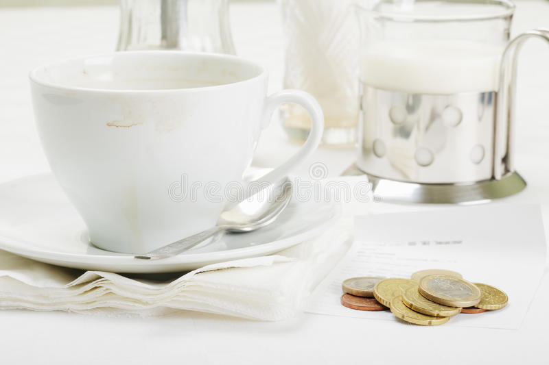 Payment For Coffee Royalty Free Stock Photo