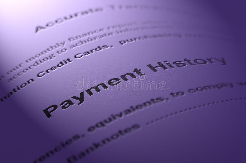 Payment history. royalty free stock images