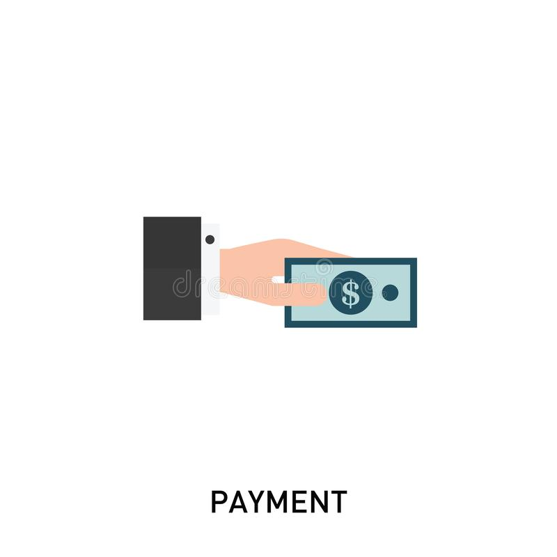 Payment icon. Hand holding money. stock illustration