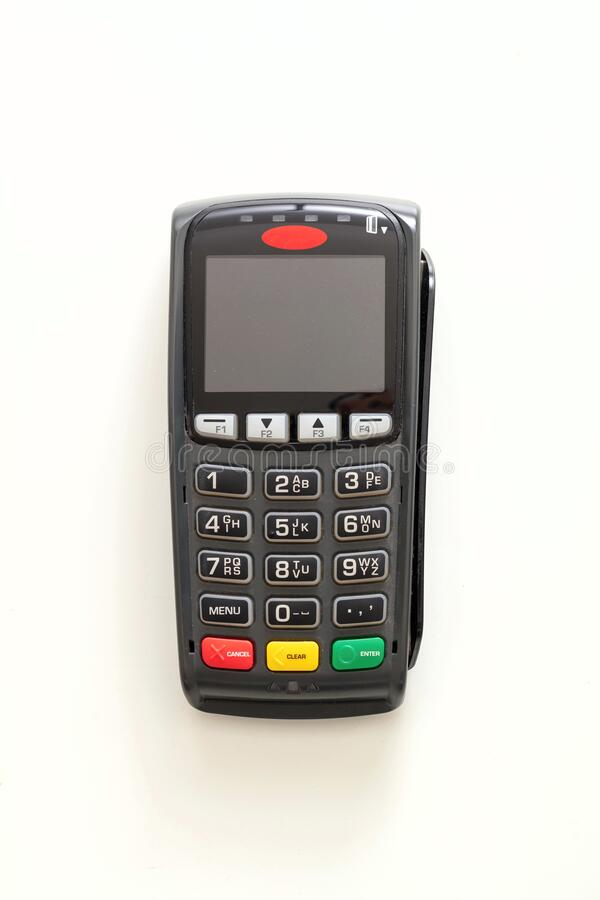 Free Payment Machine, POS Terminal Isolated On White Background Royalty Free Stock Image - 188745546