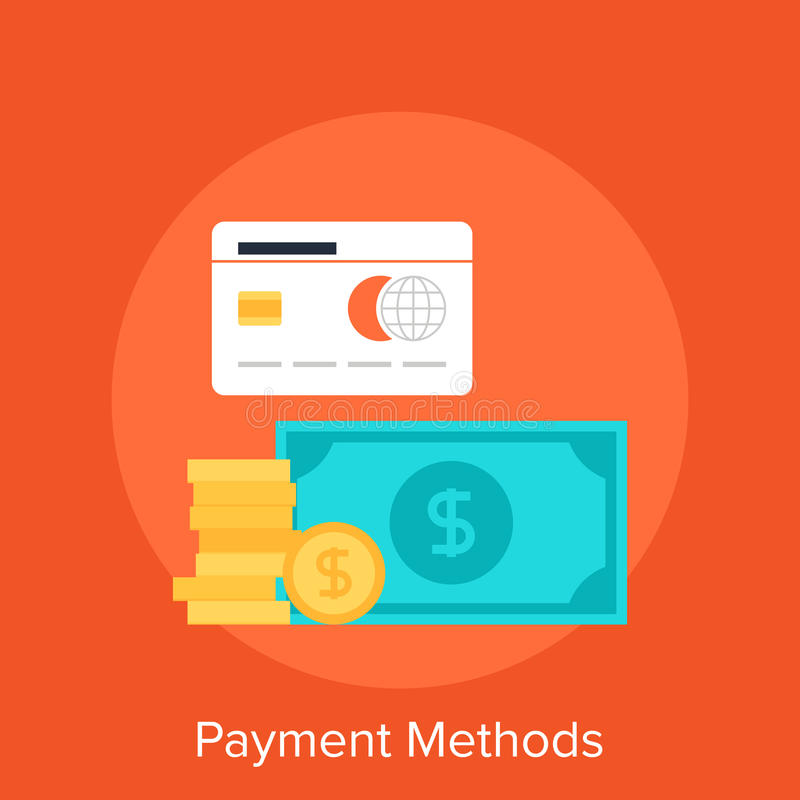 Payment Methods. Vector illustration of payment methods flat design concept stock illustration