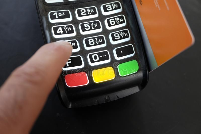 Payment with pos stock images