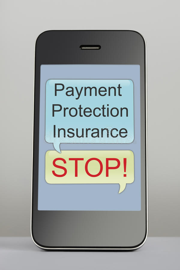Free Payment Protection Insurance Claim Spam Text Message Stock Photo - 30553080