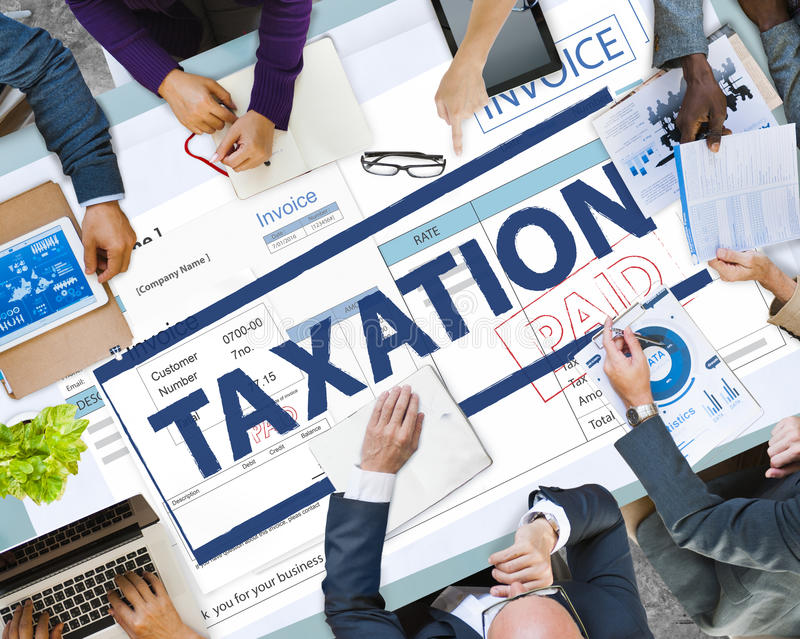 Payment Received Taxation Tax Time Concept stock photography
