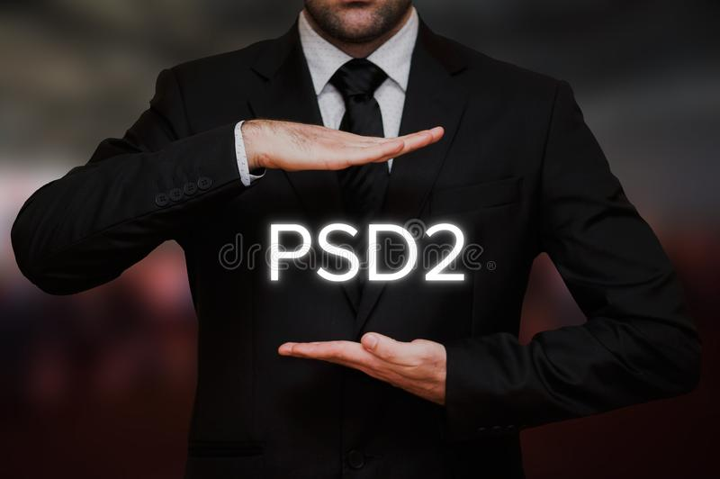 Payment Services Directive 2 PSD2 royalty free stock photo