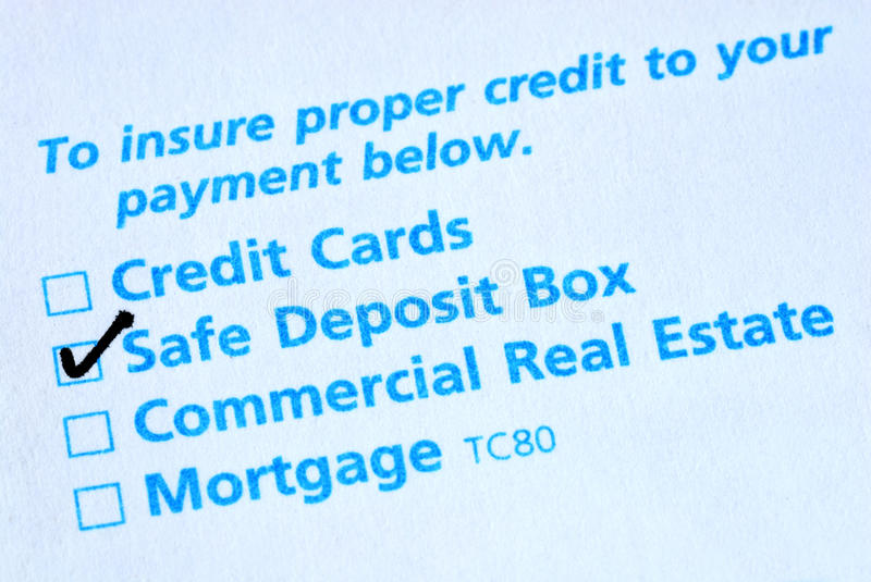 Payment Slip Royalty Free Stock Images