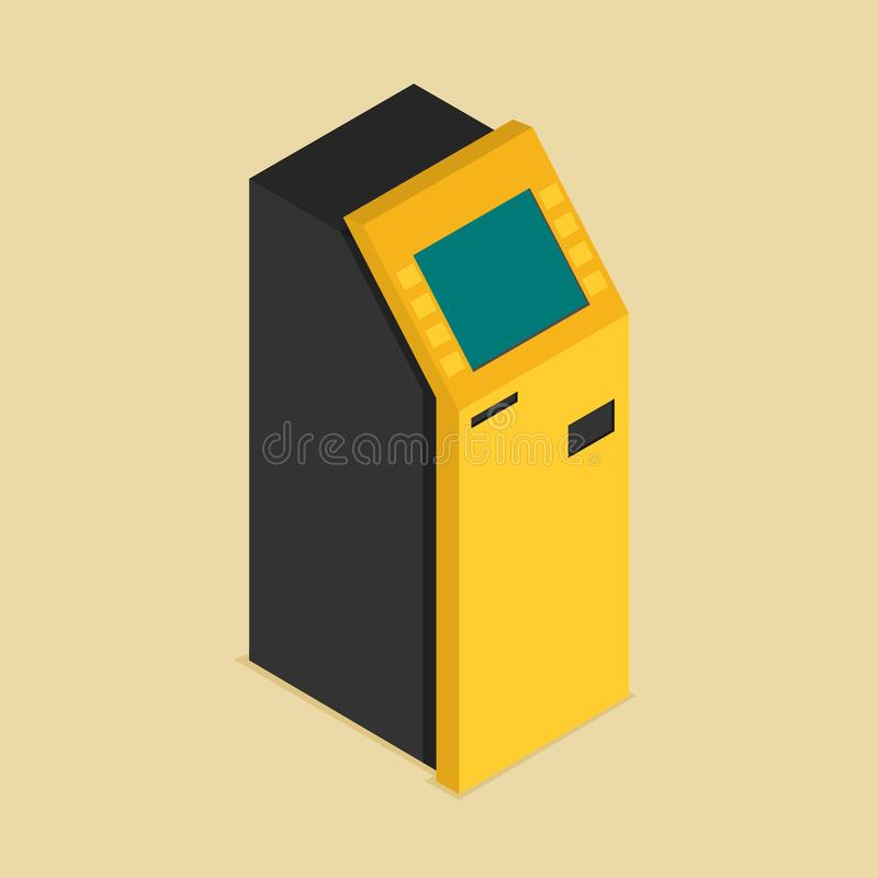 Payment terminal isometric flat. Vector isolated vector illustration