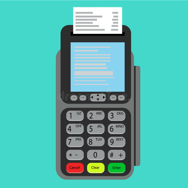 Payment terminal. Point of sale concept.POS terminal. Payment terminal. Point of sale concept.POS terminal vector illustration