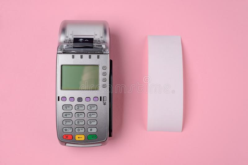Payment terminal and till slip royalty free stock image