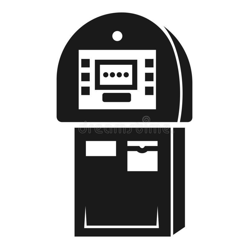 Payment vending machine icon, simple style royalty free illustration