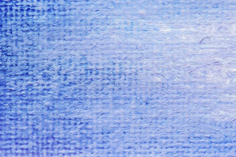 Paynted blue painted canvas, sackcloth or burlap with visible texture and spots. Close up of jute, texture pattern for royalty free stock photos