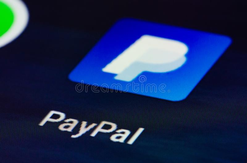 Paypal app. Is an American company operating a worldwide online payments system that supports online money transfers and serves royalty free stock photography