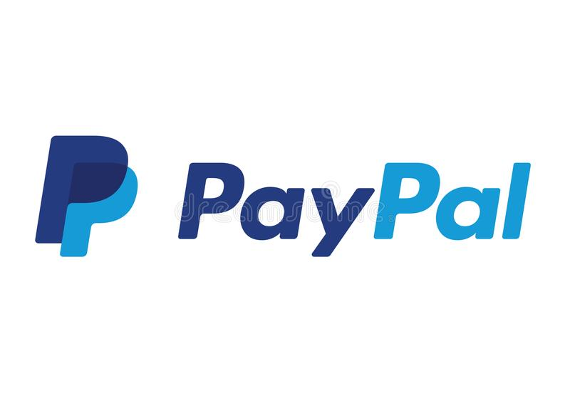 Paypal Logo. On a white background, vector format avaliable