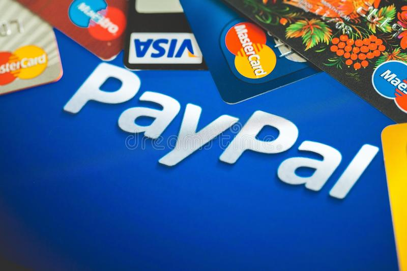 Paypal. Payment method card credit pay bank stock photo
