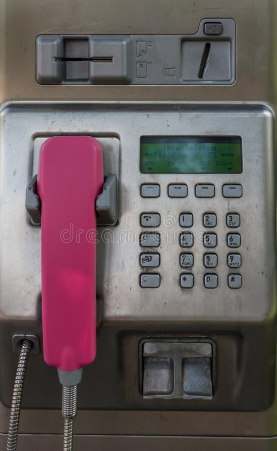 Payphone in Duitsland stock fotografie