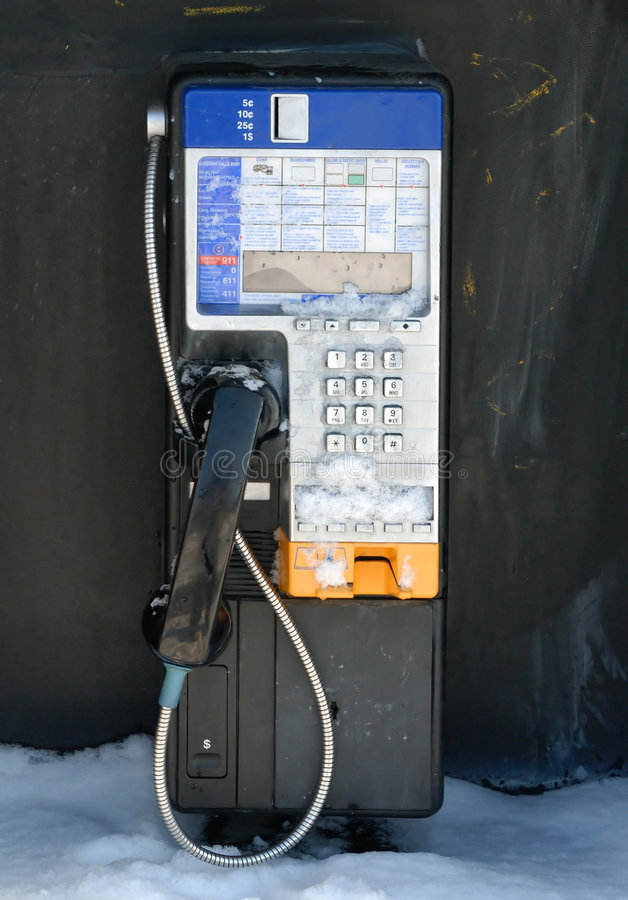 Free Payphone In Winter Stock Photo - 1572330