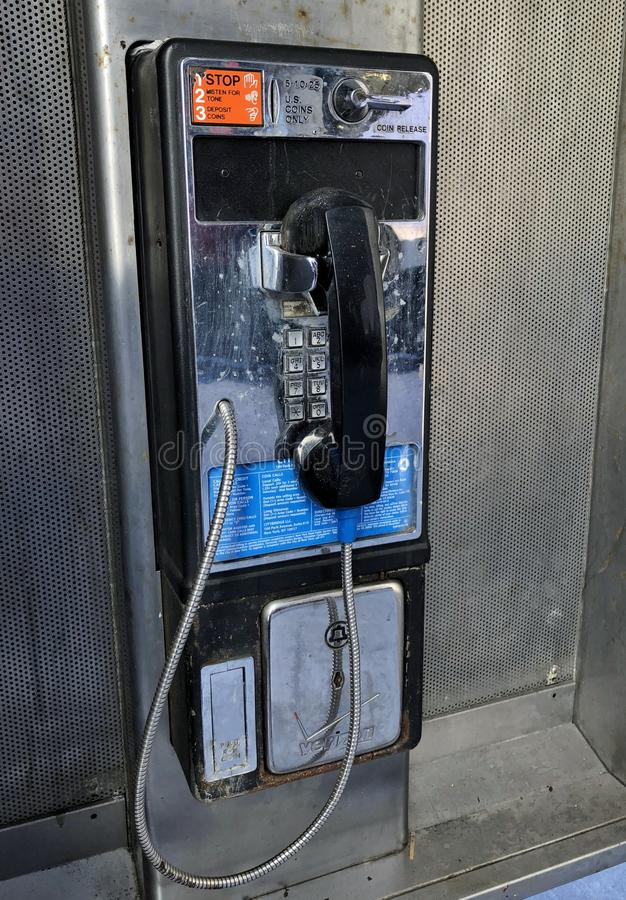 PayPhone New York City Street Closeup Pay Phone stock photos