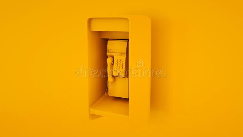 Payphone pubblico Concetto minimo di idee illustrazione 3d royalty illustrazione gratis