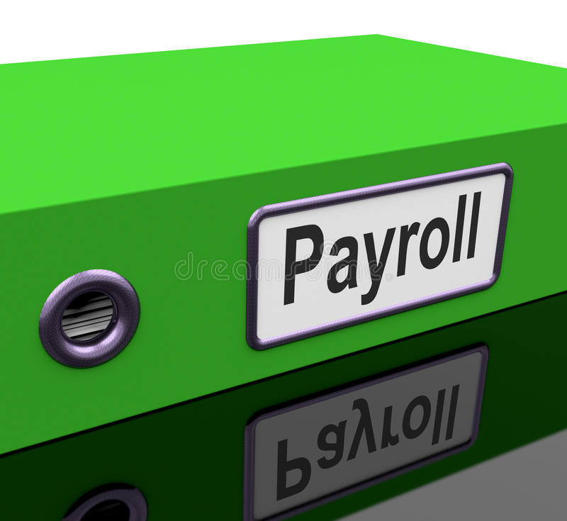 Payroll File Contains Employee Timesheet Records stock illustration