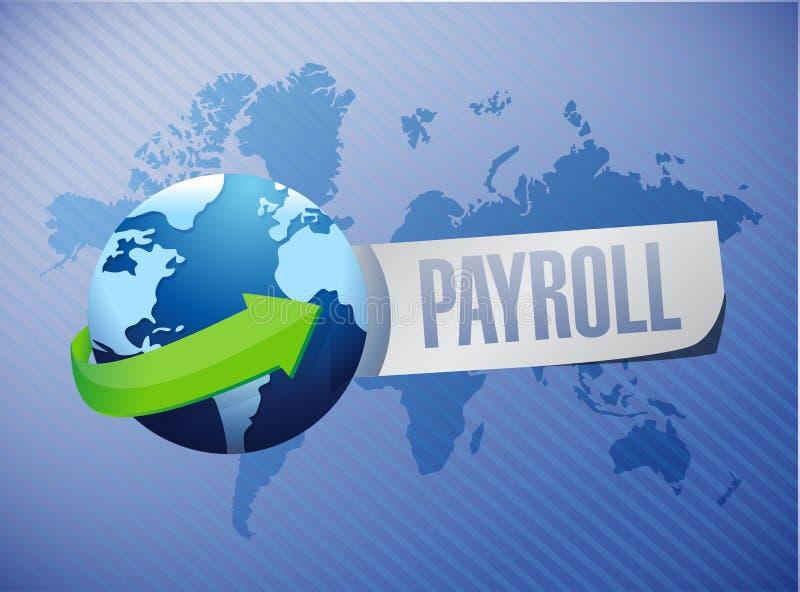 payroll international sign concept illustration stock illustration