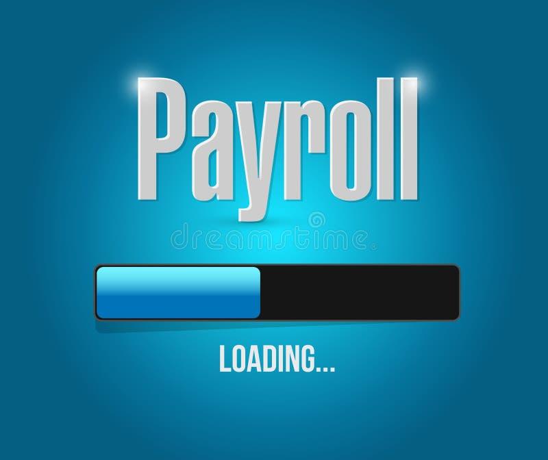 Payroll loading bar sign concept illustration. Design over blue stock illustration