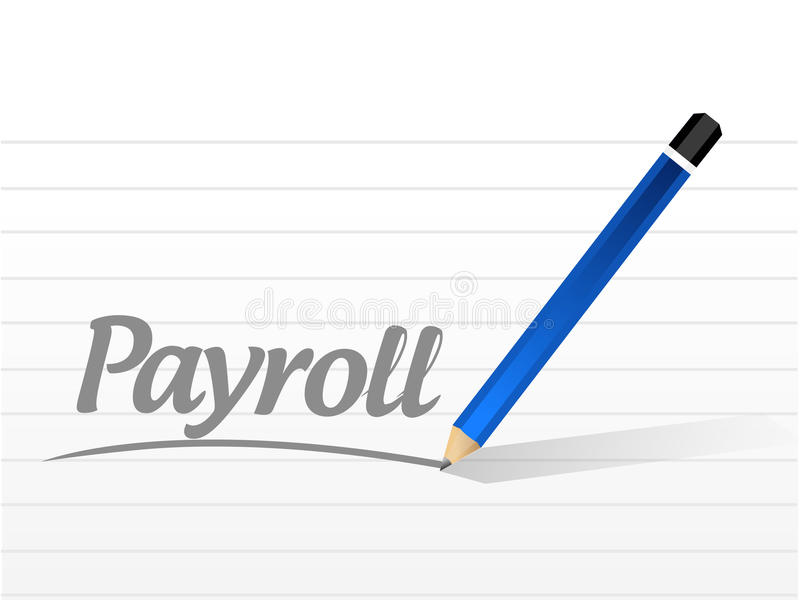 payroll message sign concept illustration royalty free illustration