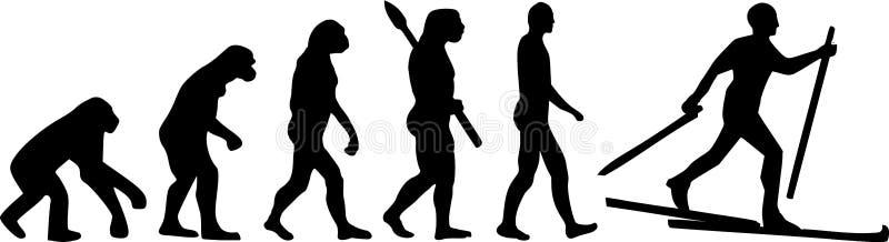 Pays croisé Ski Evolution illustration libre de droits