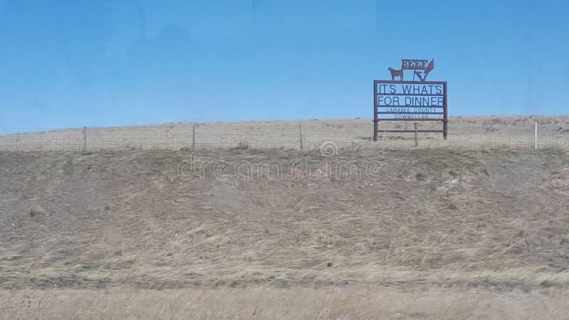 Pays de boeuf du Wyoming images libres de droits