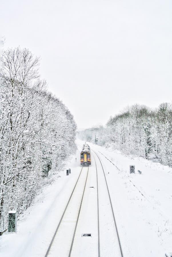 Pays de chute de neige photo libre de droits