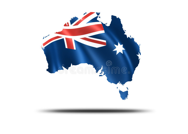 Pays de l'Australie illustration stock