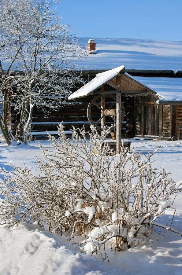 Pays de Russe de l'hiver photo libre de droits