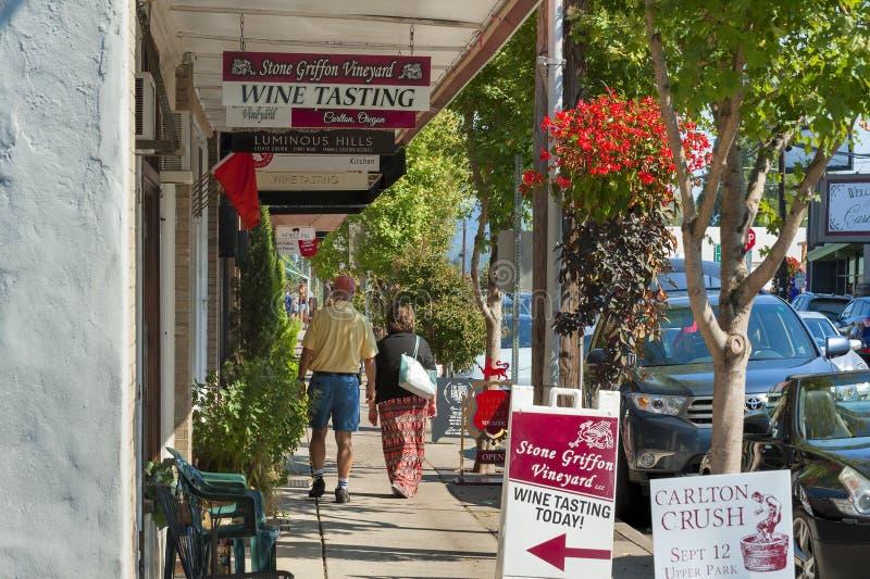 Pays de vin de Carlton City In Yamhill County images libres de droits