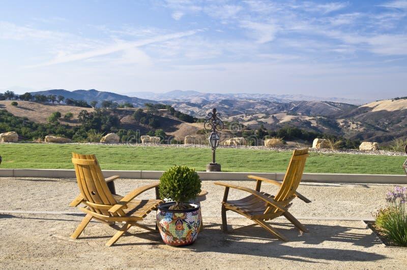 Pays de vin de la Californie Vista photo libre de droits