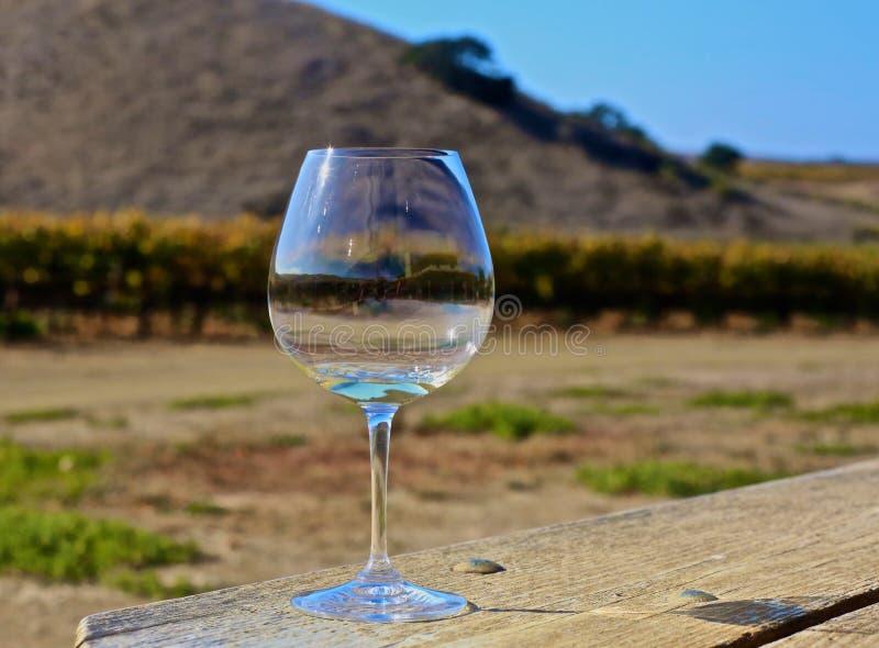 Pays de vin en verre de vin blanc de vin la Californie image stock