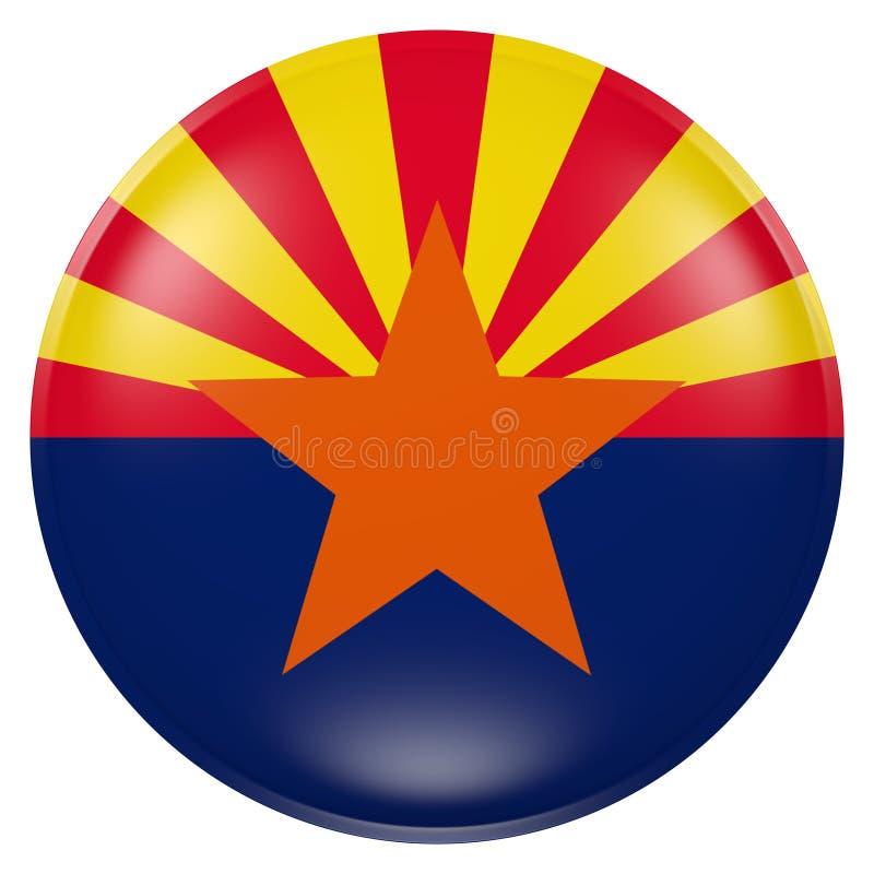 pays du pavillon de bouton de l'Arizona illustration libre de droits