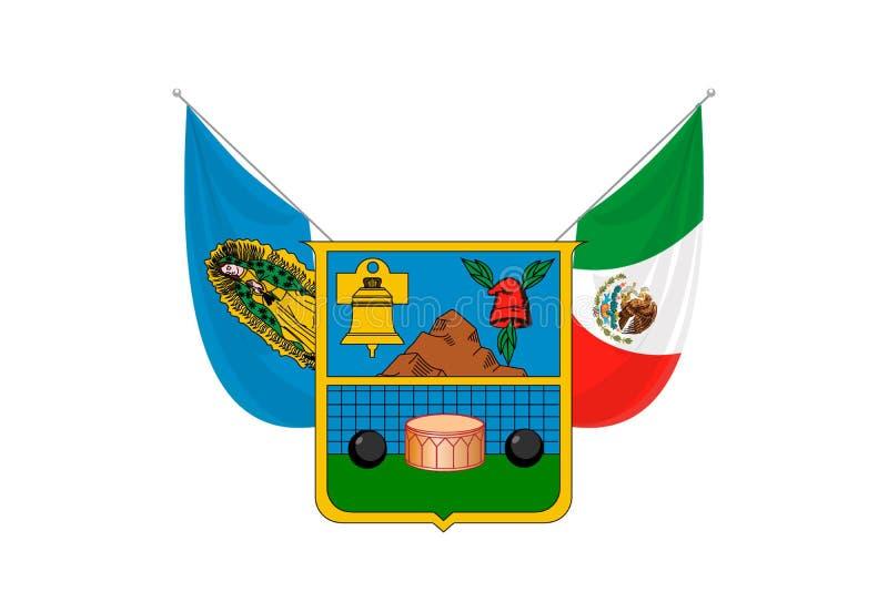 Pays du pavillon simple du Mexique illustration libre de droits
