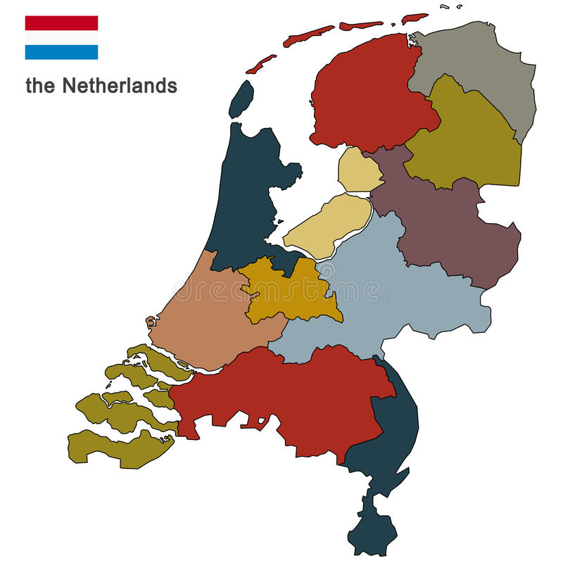 pays les Pays-Bas illustration de vecteur