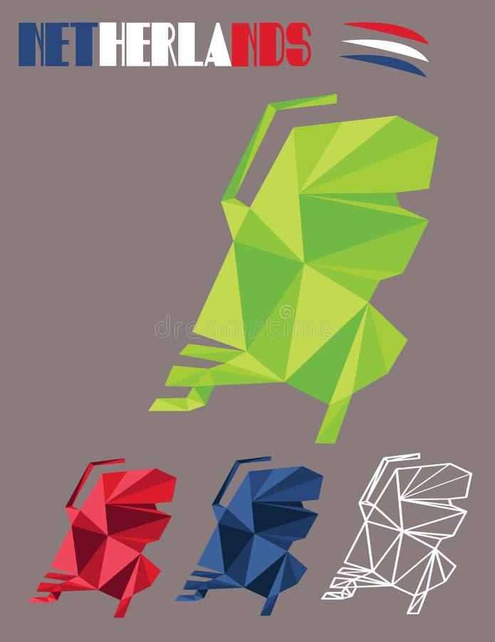 Pays néerlandais de carte illustration stock