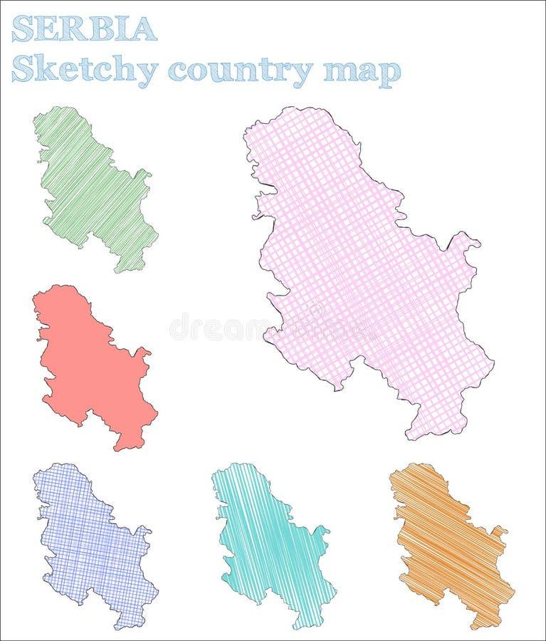 Pays peu précis de la Serbie illustration libre de droits