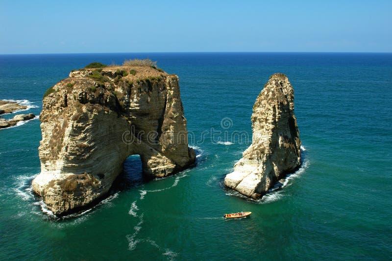 Paysage à Beyrouth Liban images libres de droits